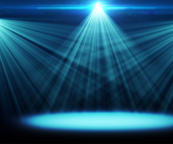 Theater Lights Background: Silicon Valley Frontier Technology Spotlight